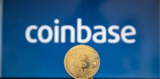 Tula, Russia - JANUARY 27, 2019 Coinbase - Buy Bitcoin and More, Secure Wallet mobile app on the display - Image