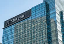 Hong Kong, January 2, 2019 J.P. Morgan in Hong Kong. An American investment bank and financial services company. - Image