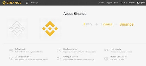 Binance platform and app