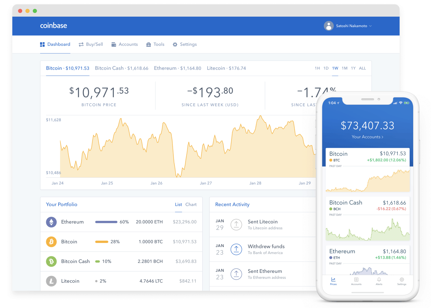Coinbase platform and app