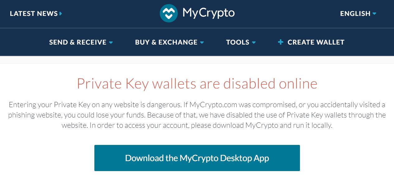 MyCrypto platform and app
