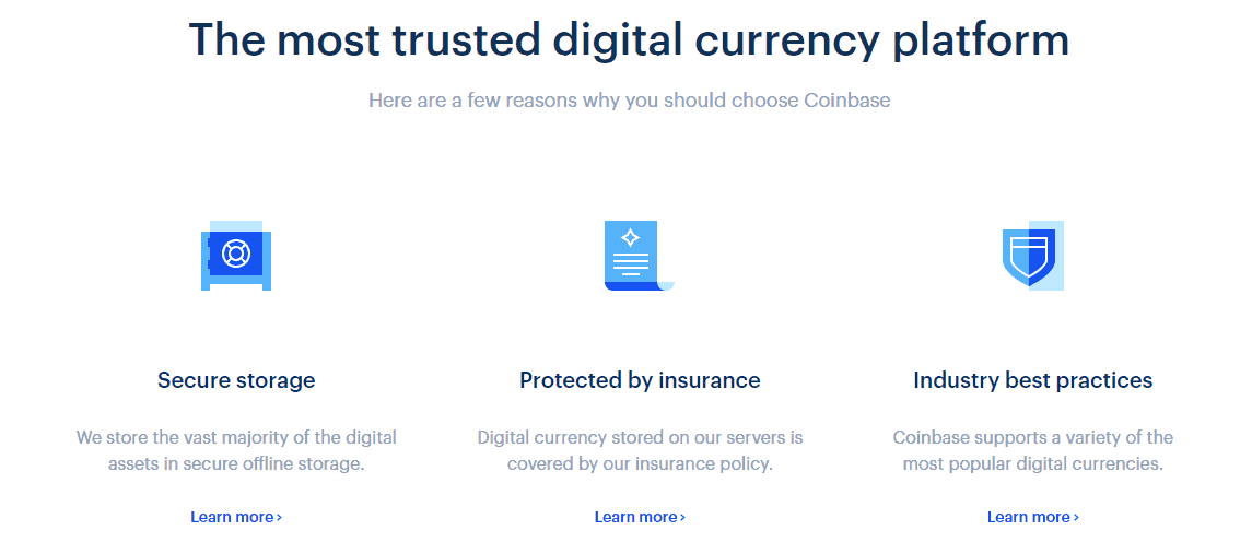 coinbase currencies supported