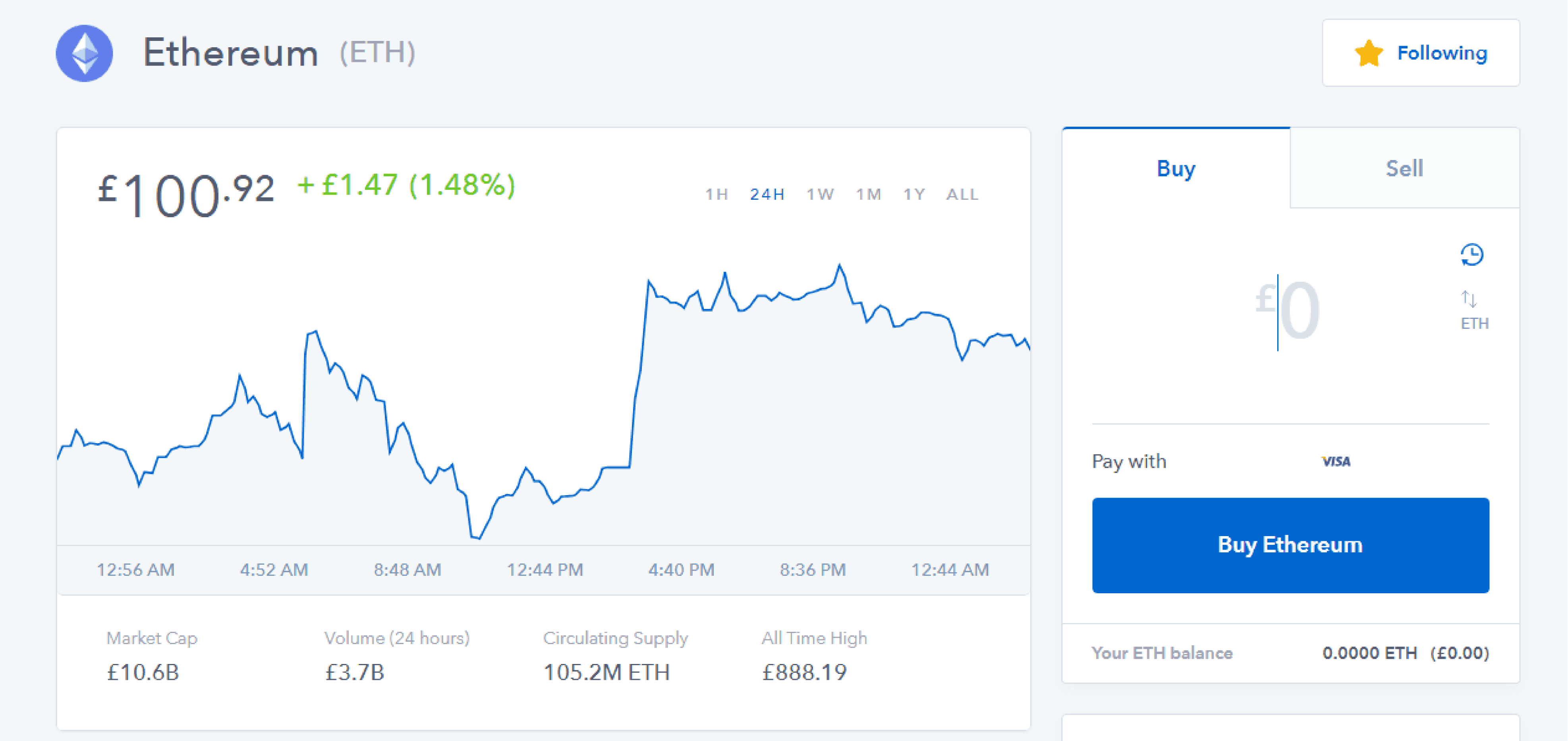cryptocurrency bitcoin price coinbase