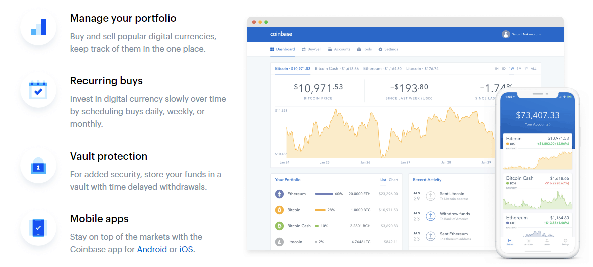 coinbase exchange review 2019 features