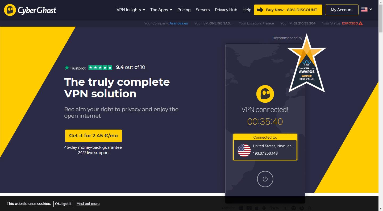 top 5 vpn services