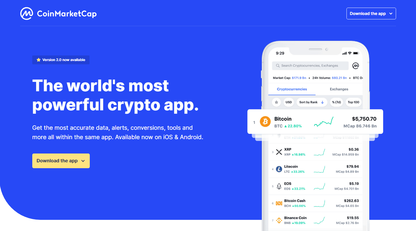 best cryptocurrency similar to coinmarketcap