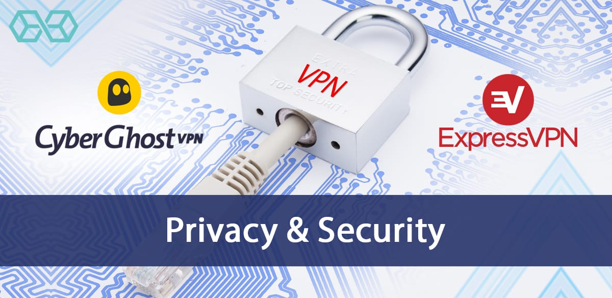 CyberGhost-VPN Vs Express-VPN Privacy and Security - Source: ShutterStock.com