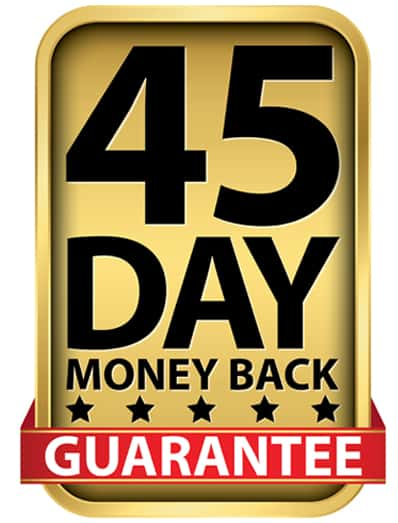45 days Money back guarantee - Source: ShutterStock.com