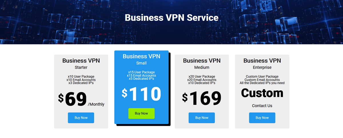 Business VPN Service Pricing