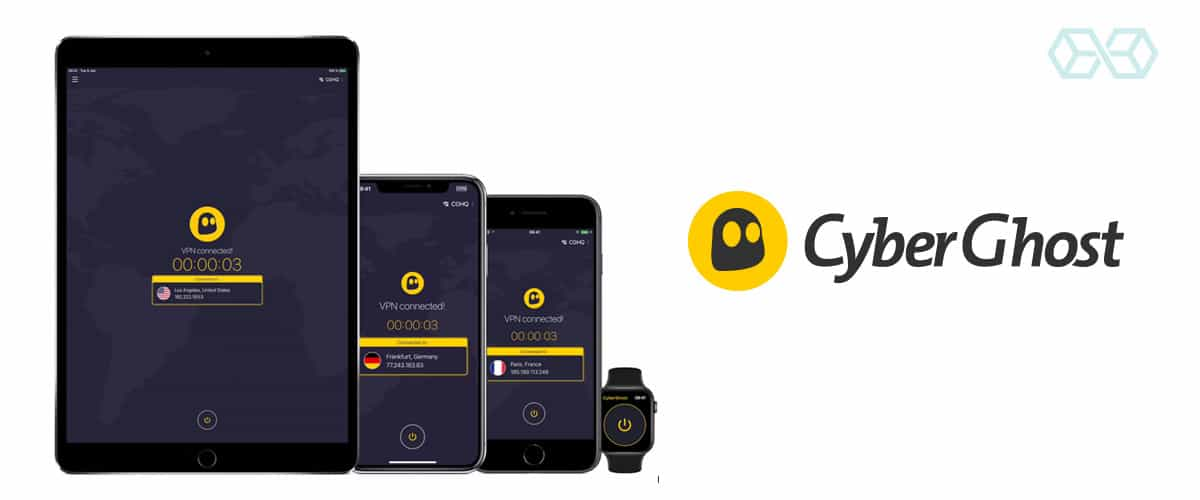 CyberGhost VPN services on your iOS Apple device