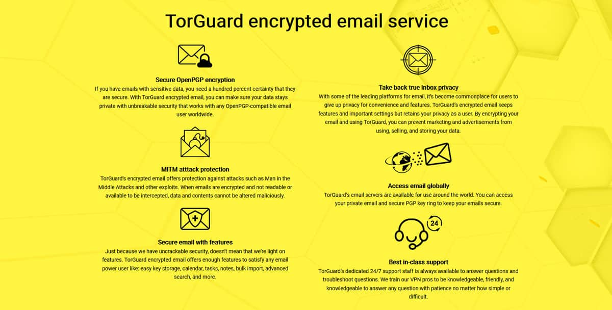 TorGuard encrypted email service