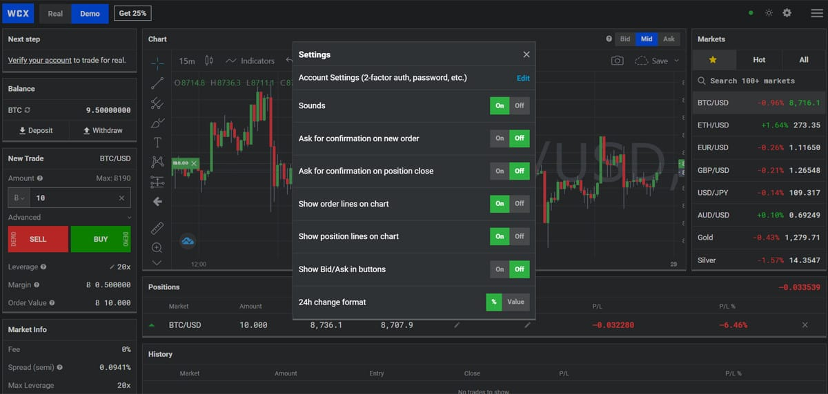 There are multiple customization features available to traders.