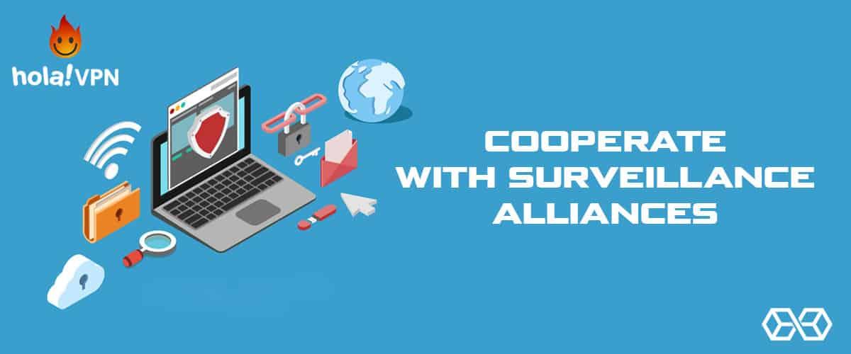 Cooperate with Surveillance Alliances - Hola VPN - Source: Shutterstock.com