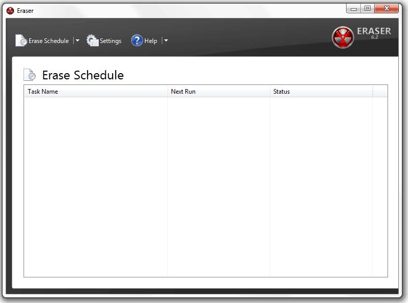 Erase schedule