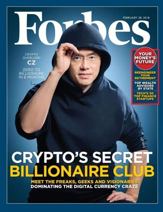 Changpeng Zhao, Founder of Binance Virgile Simon Bertrand for Forbes