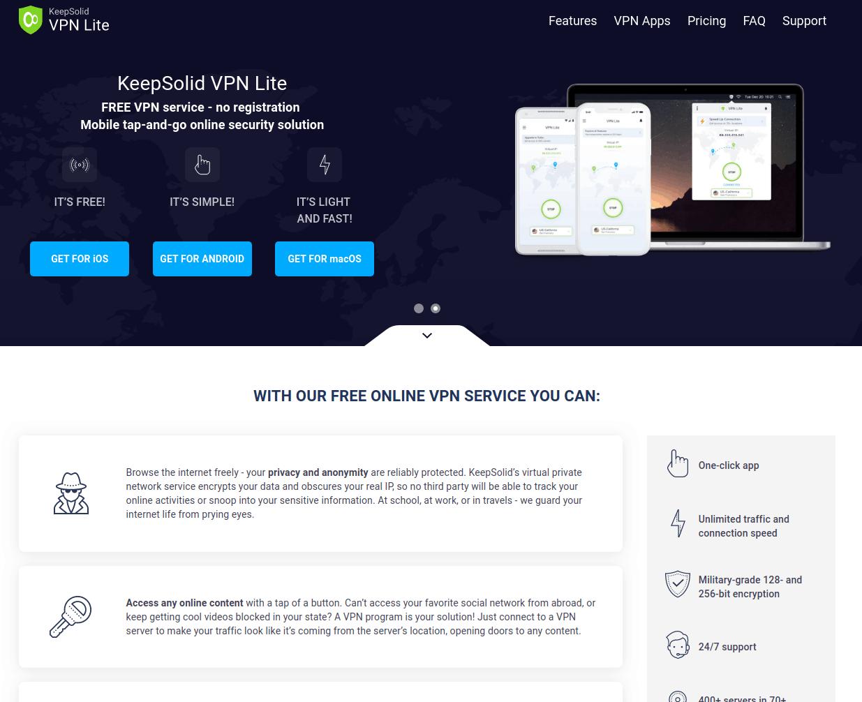 KeepSolid VPN Unlimited Lite