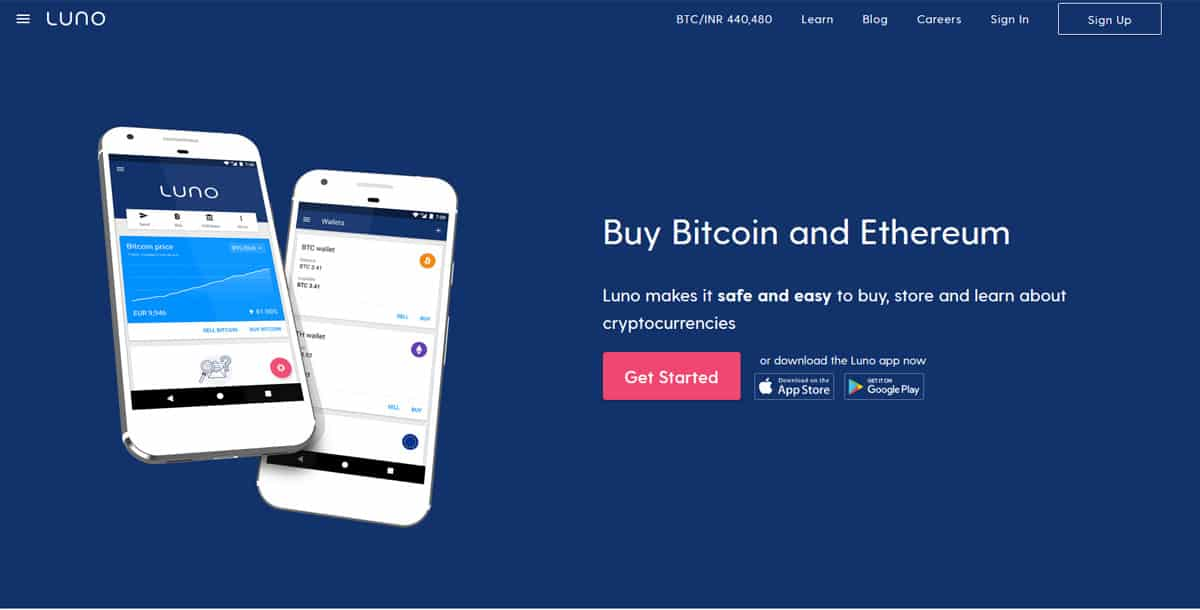 Luno Review Homepage