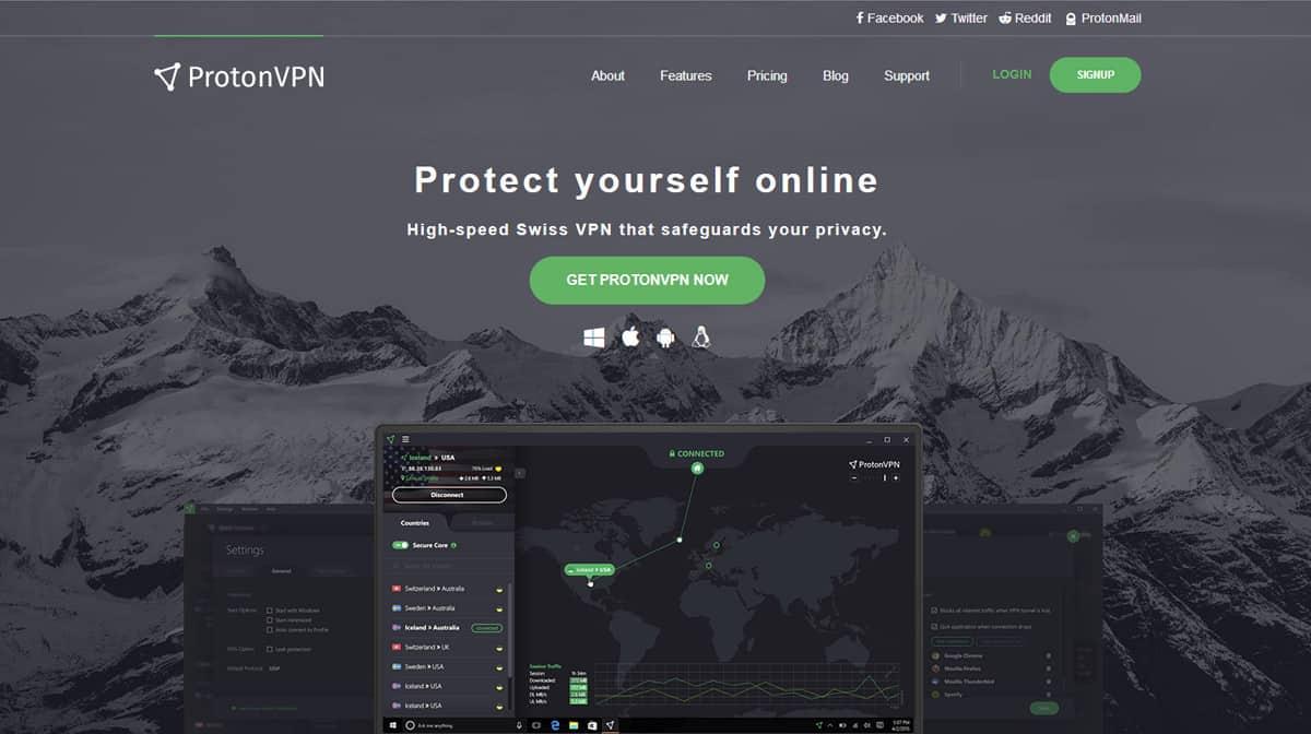 ProtonVPN Source: protonvpn.com