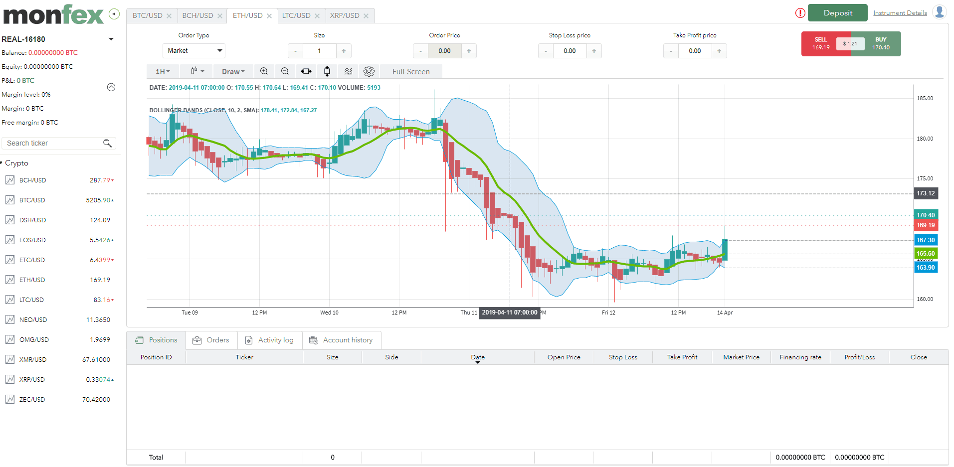 Monfex offer a sleek and simple UI which makes trading easy