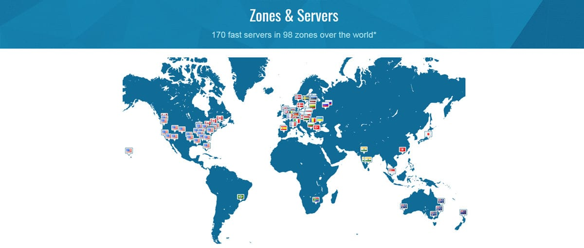 170 servers in 96 locations-Trust.Zone