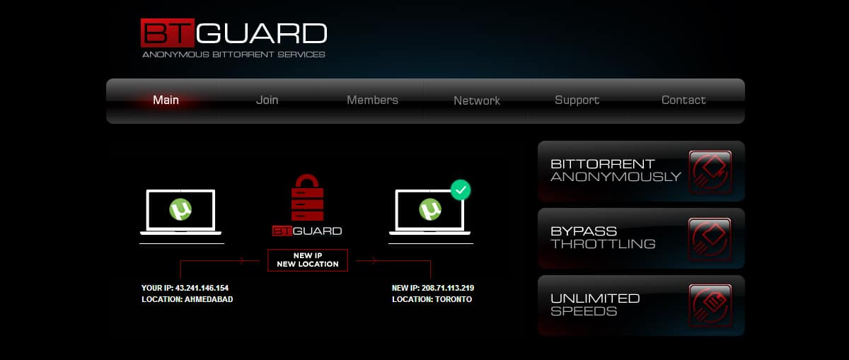BTGuard encourages torrenting