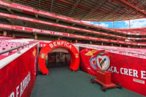 Lisboa, Portugal - April 2018 tunnel exit to the ground at Estadio da Luz - the official playground of FC Benfica - Image
