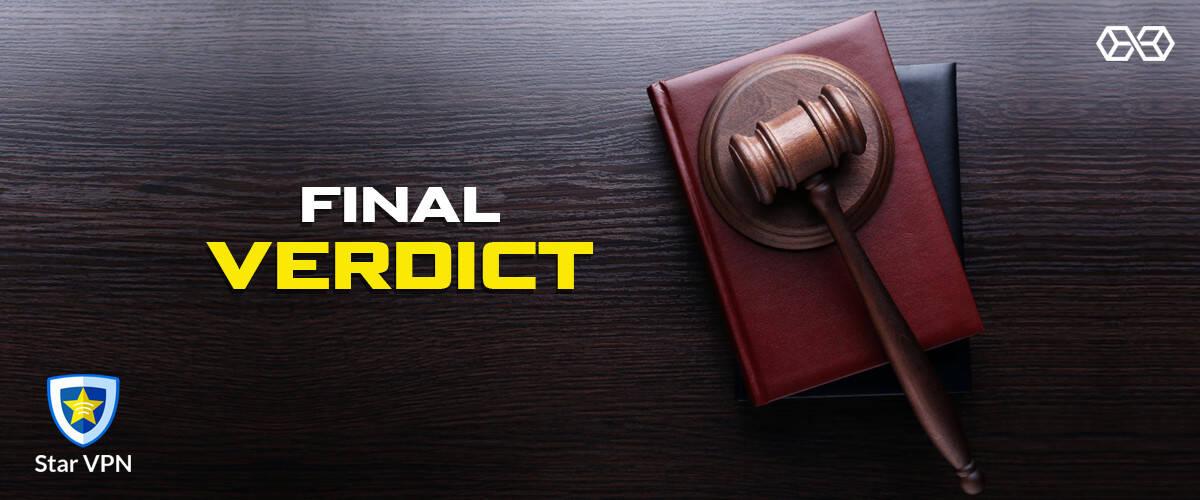 Final Verdict Star VPN - Source: Shutterstock.com