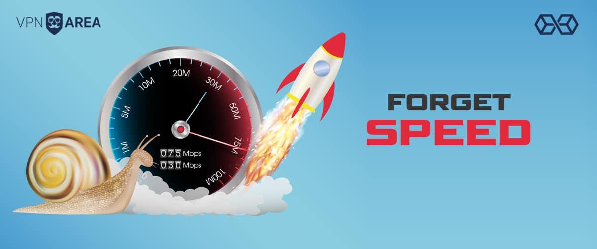 Forget Speed VPNArea - Source: Shutterstock.com