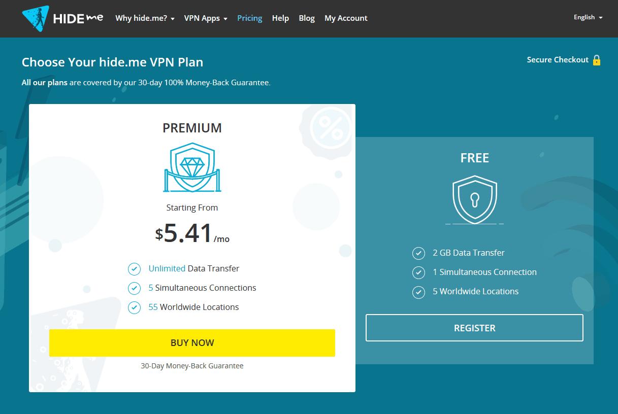 Hide.me VPN Plans