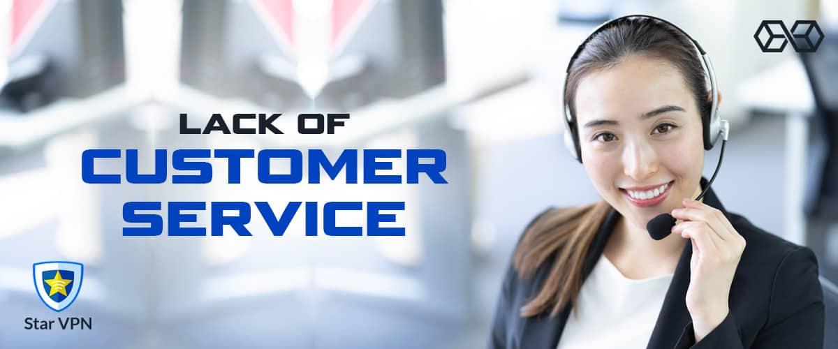 Lack of Customer Service Star VPN - Source: Shutterstock.com