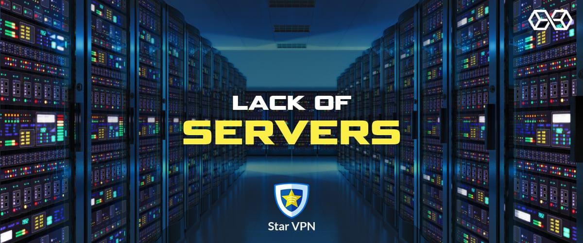 Lack of Servers Star VPN - Source: Shutterstock.com