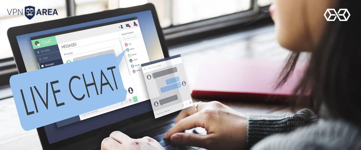 Live Chat VPNArea - Source: Shutterstock.com