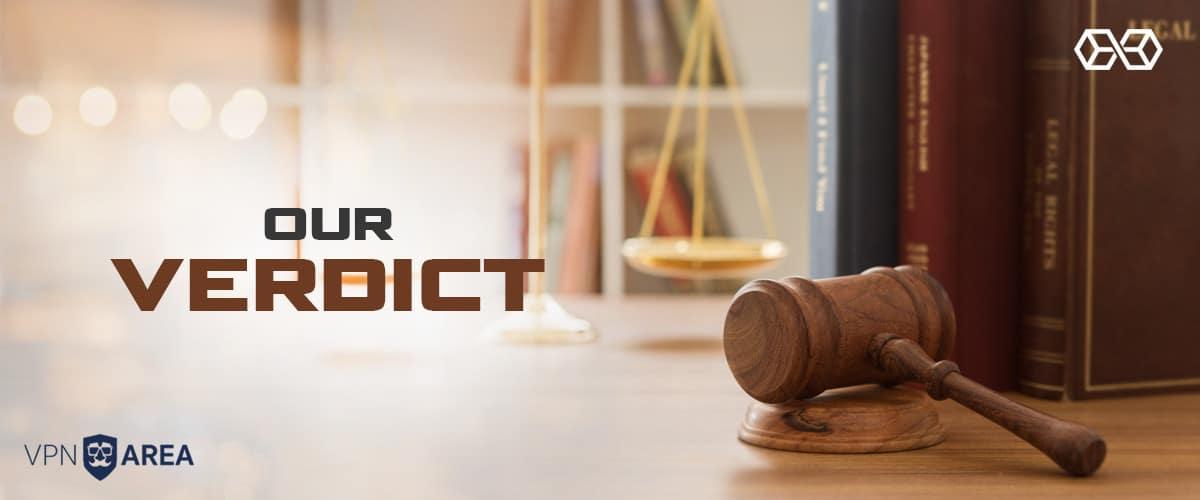Our Verdict for VPNArea - Source: Shutterstock.com