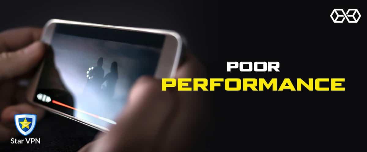 Poor Performance Star VPN - Source: Shutterstock.com