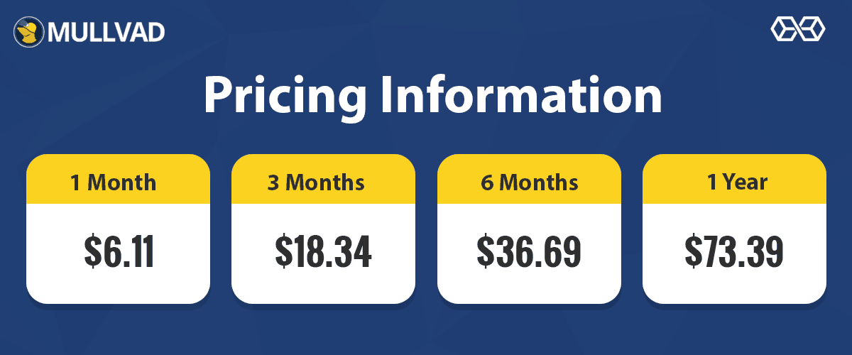 Pricing Information Mullvad VPN - Source: Shutterstock.com