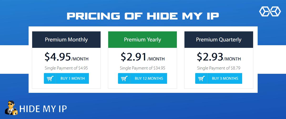 Pricing of Hide My IP