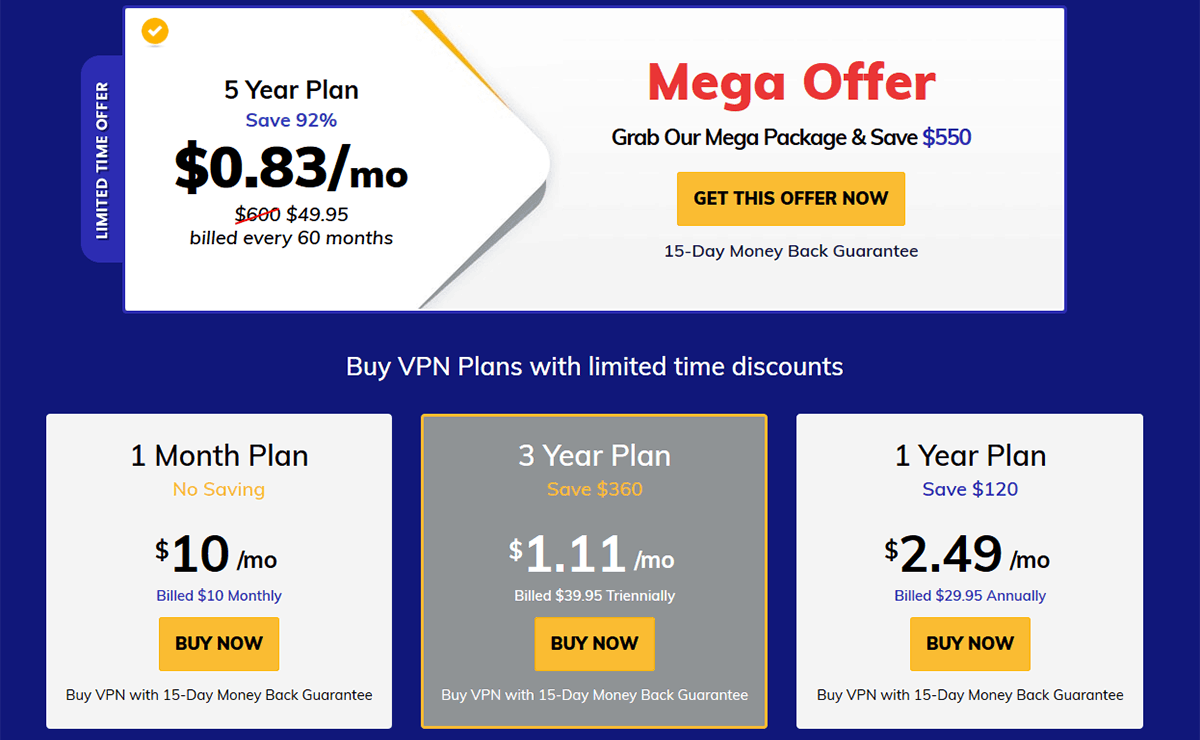 Pricing of Fastest VPN