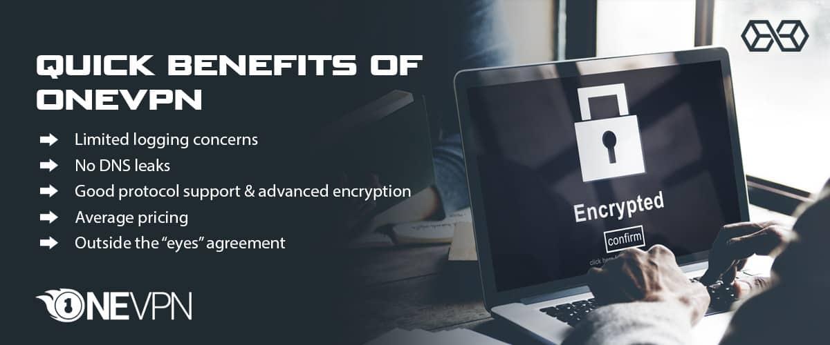 Quick Benefits of OneVPN - Source: Shutterstock.com
