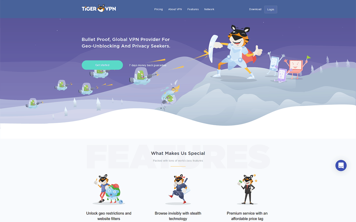 TigerVPN Homepage