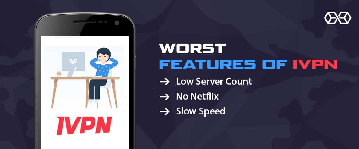 Worst Features of IVPN