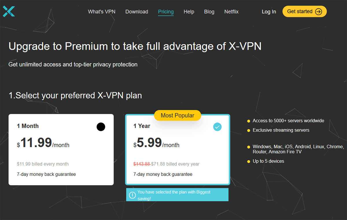 X-VPN Prices