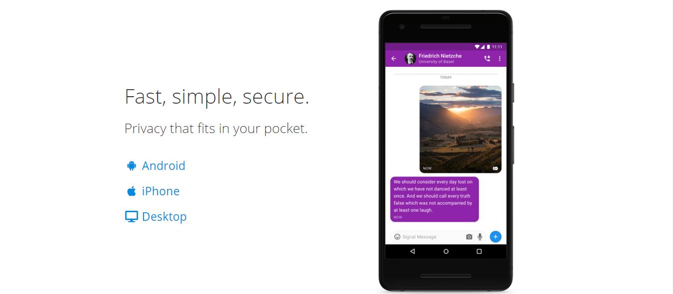 Bezpečné chatovací aplikace v roce 2020