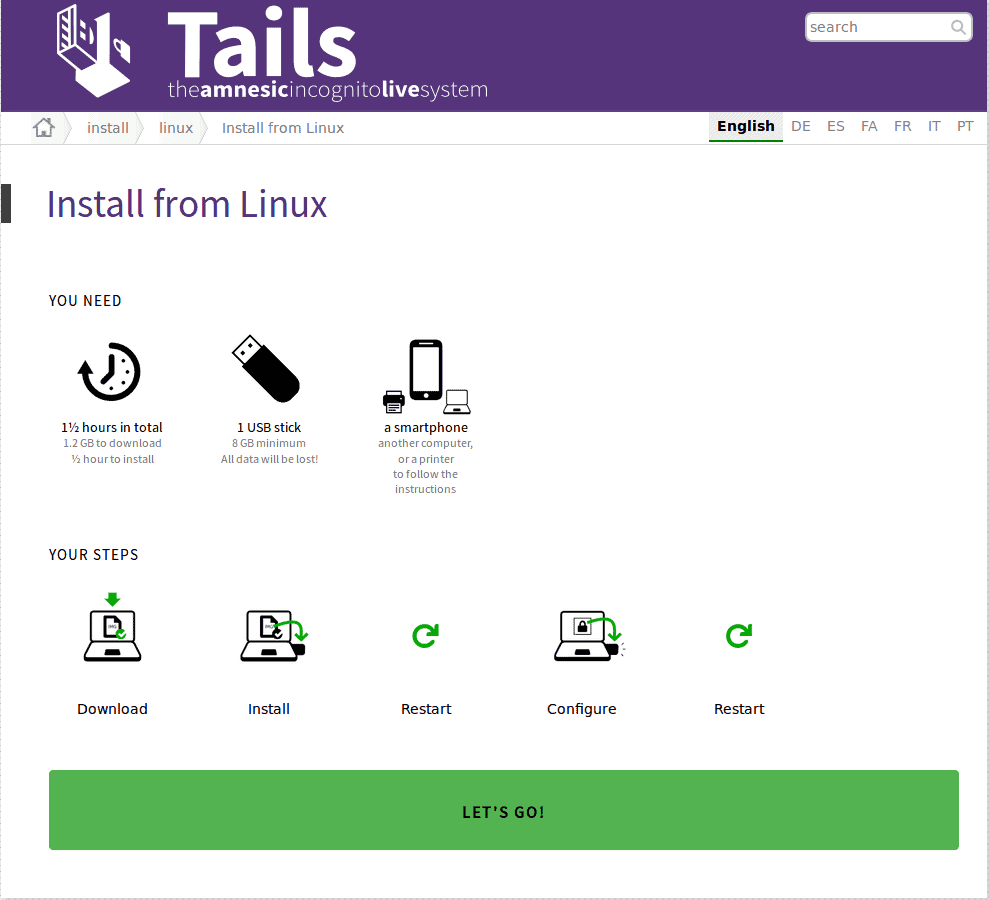 Tails Install